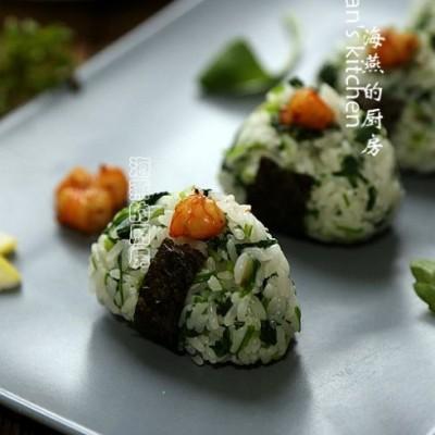 马兰头虾仁饭团