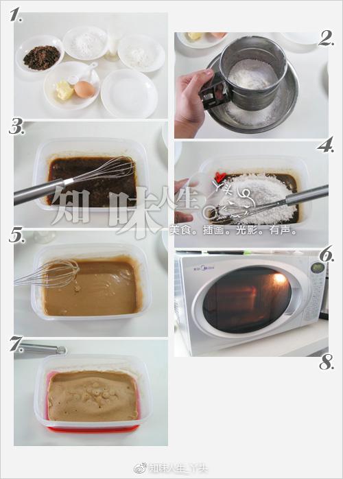 微波炉版马拉糕