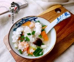 鲜虾鱿鱼粥
