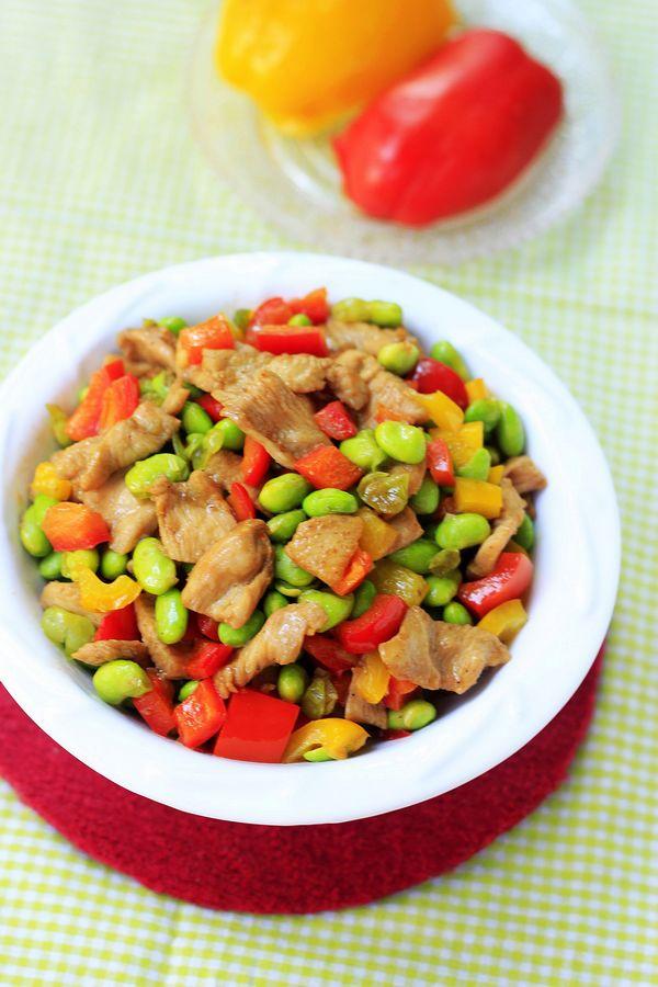毛豆怎么做好吃--毛豆炒肉