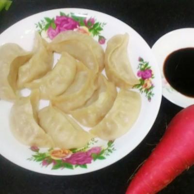 水萝卜鲜肉蒸饺