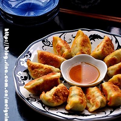 香菇油菜馅煎饺