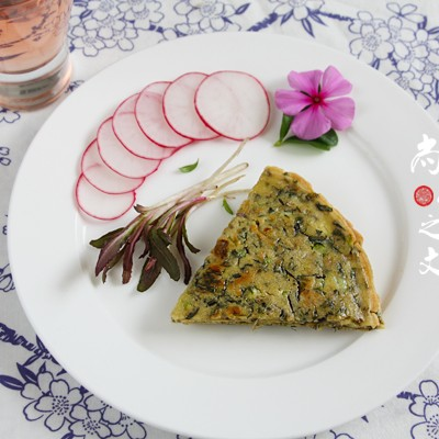 苣荬菜鸡蛋饼