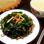 时令小炒——【海带丝韭菜炒肉丝】