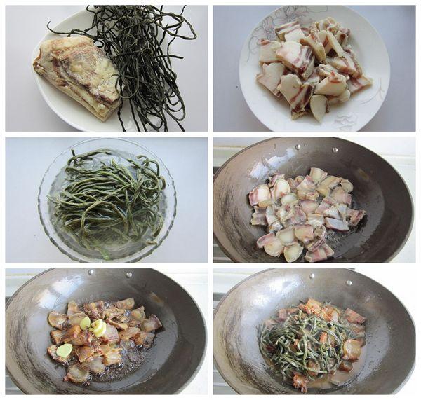 干豇豆烧腊肉