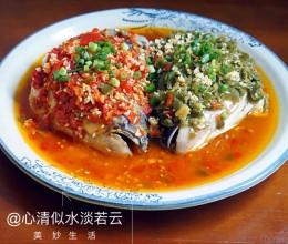 双剁椒鱼头--湘菜老馆子的必备菜