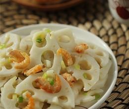 爽口解腻、开胃又下酒的凉拌菜---海米葱油拌藕片