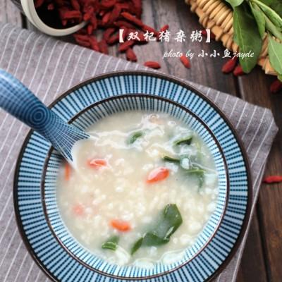 炎炎夏日,给家人熬一碗清热明目的养生粥---双杞猪杂粥