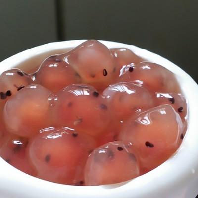 红色火龙果珍珠粉圆(还有琥珀珍珠)