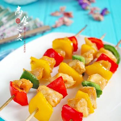 盛夏時也要好好吃起來----烤彩椒雞肉串