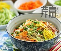 三鲜丁麻汁凉面:夏至吃凉面,要吃就吃最经典的!