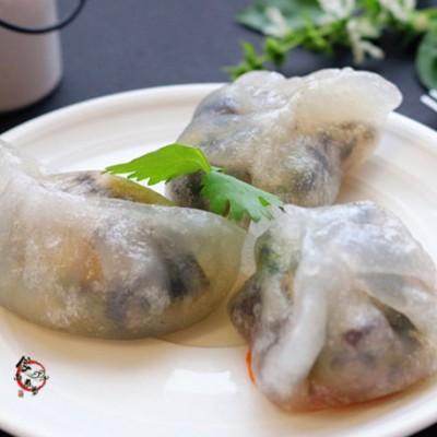 馅料隐约可见的健康水晶饺,好吃又易做!