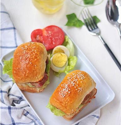 培根芝麻漢堡