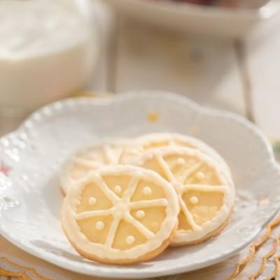 给夏天的清凉糖霜柠檬饼干【小黄车的座椅温度都86.5度了】