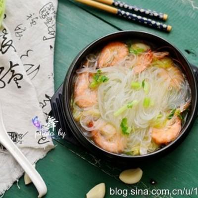 【鲜虾粉丝煲】亦菜亦饭的夏日营养美味