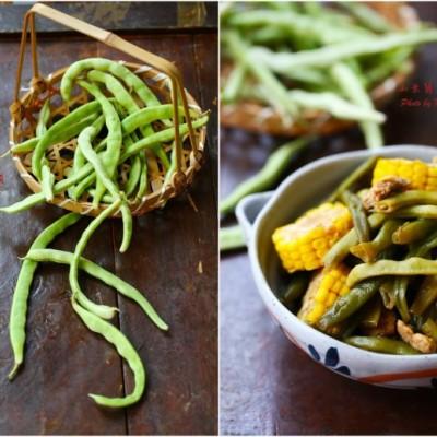 不用动脑的超简单下饭菜:玉米酱豆角