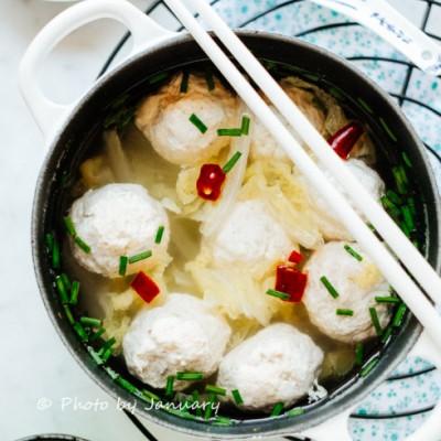 【鸡肉丸子汤】减肥必吃的健康低脂料理