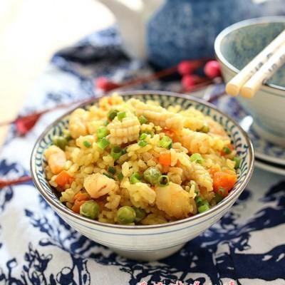 海鲜咖喱饭(微波炉版):桑拿天远离油烟懒人餐