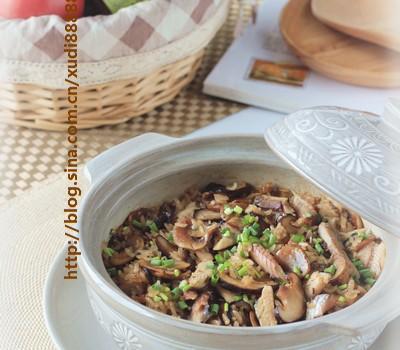 沙丁鱼菌菇炊饭