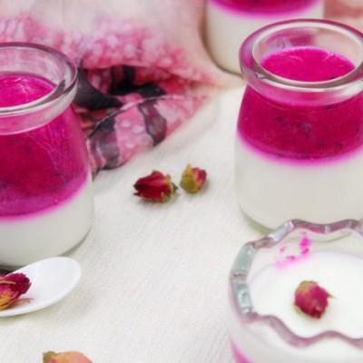 雪与火的完美结合——火龙果酸奶果冻
