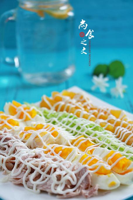 黄桃金枪鱼鸡蛋沙拉