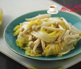 海鲜菇炒娃娃菜