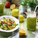 減肥早餐-鮮蝦蔬果沙拉&高纖果蔬汁