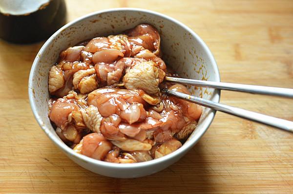压力电饭煲香菇彩椒鸡肉饭