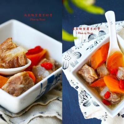 缓解秋燥-海底椰皇蜜枣排骨汤