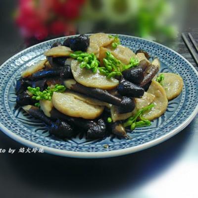 黑皮鸡枞炒潮汕土猪肉卷