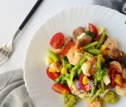 田园鲜虾沙拉-做法简单又健康,试试