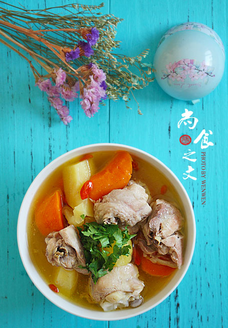 #大松IH压力电饭煲#让我们干了这碗鸡汤--鸡腿炖土豆