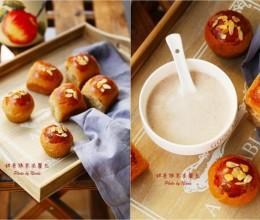 秋日温暖早餐:甜菜根枣泥餐包&红米红枣豆浆