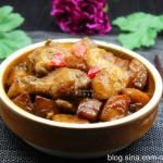 电饭锅酱香鸡根焖土豆
