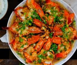 蒜蓉粉丝蒸虎虾