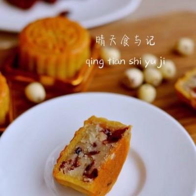 #趣味美食家#中西合璧的蔓越莓莲蓉月饼!