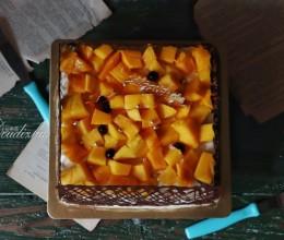 芒果鸟巢奶油蛋糕