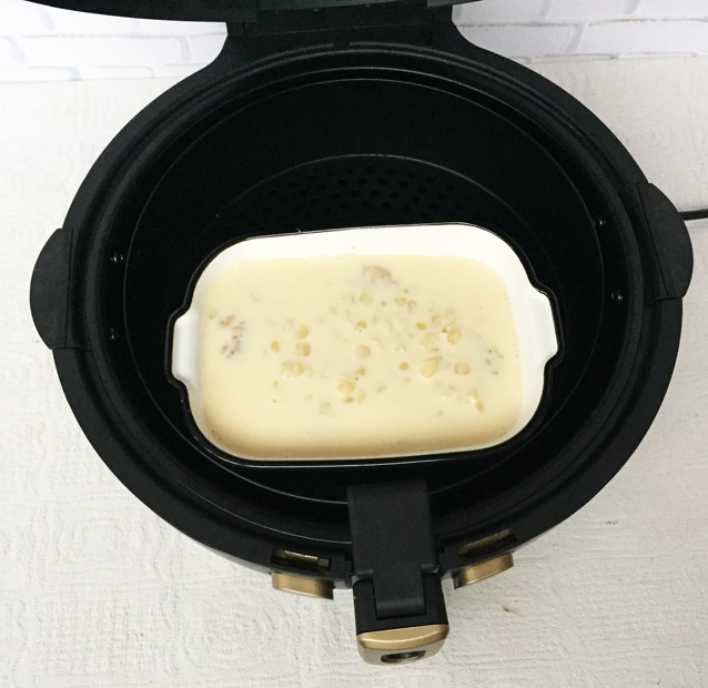 空气炸锅玉米粒麦片布丁