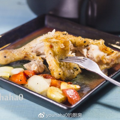 空氣炸鍋食譜-鹽烤雞腿