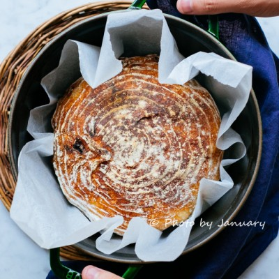 空气烤箱食谱-蔓越莓碧根果欧包