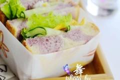早餐不但要吃好,更要高颜值,双色紫薯吐司满足全家人