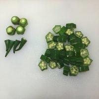 秋葵鳕鱼粥