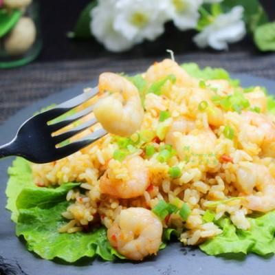 清香罗勒虾仁饭