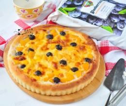 蓝莓黄桃芝士披萨