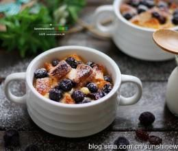 早餐-蓝莓面包布丁