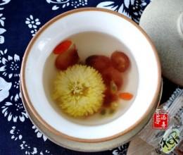 皇菊蔓越莓枸杞百香果茶
