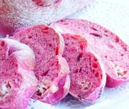 火龙果玫瑰芝士蔓越莓软欧包