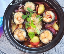 黑鳕鱼蔬菜煲