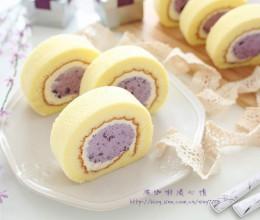 蓝莓乳酪冻蛋糕卷