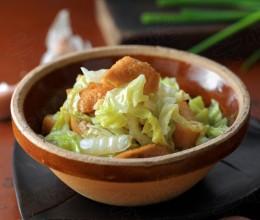 白菜烧豆腐泡